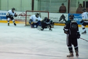 Adrian Moyls opens the floodgate early for the visiting Leafs who would go on to trample the Bruins 9-1; Photo, Nik Green