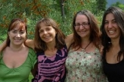 Seva Centre cooperative members: Mona Mattei, Elisabeth Guentert Bay, Michele Dean, and Anisah Madden; Photo, submitted