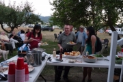 Megami crew and cast were treated to dinner by Community Futures Boundary staff this week; Photo, Mona Mattei