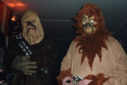 Chewy and a friend from Star Wars fame at the Freaker's Ball; Photo, Cynthia Garnett