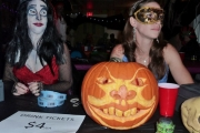 Cynthia Garnett (l) and Melanie Shenstone (r) with a pumpkin from the Taxi Guy - Sonny; Photo, Mona Mattei