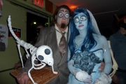 Freaker's Ball: Winner of most Creative Couple's Costume (second year in a row!). The movie the Corpse Bride. — with Tinaya Jorgensen; Photo, Cynthia Garnett