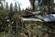 More takes on the damage at Pines; Photo, Pines Bible camp Facebook