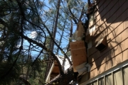 Another shot of the damage; Photo, Pines Camp Facebook