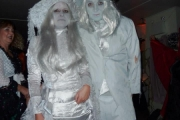 The Freaker's Ball was attended by this ghost bride and groom; Photo, Cynthia Garnett