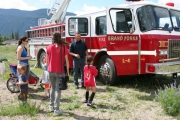 Everyone loved the fire trucks. Photo Erin Perkins.