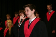 Dylan Fitzpatrick sang O Canada to start of the ceremonies. Photo Erin Perkins.