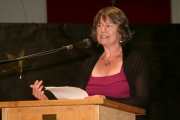 Parent speaker Tracey Garvin gave a moving and inspiration speech to the grads on behalf of all the parents. Photo Erin Perkins.