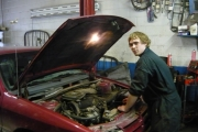 Adam McLeod at his work experience; Photo, submitted
