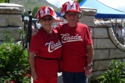 Celebrating Canada Day in full colour at the Grand Forks celebrations; Photo, Mona Mattei