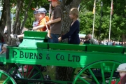Kids had fun riding an antiques cart on site courtesy of the Boundary Museum Society; Photo, Mona Mattei
