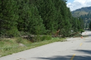 More damage along the North Fork Road; Photo, Mona Mattei