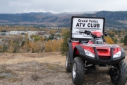 ATV on display at the Senior's Play Day; Photo, Mona Mattei