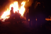 Grand Forks bonfire at Halloween 2012; Photo, Mona Mattei