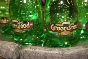 Greenwood Gold water bottles can still be purchased in Canada's smallest city. Photo Erin Perkins.