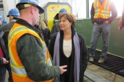 B.C. Premier Christy Clark toured Midway Mill Monday, Feb. 6. Photo submitted.