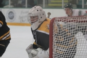 Bruins netminder Anthony Galliart did not have his best game, but was solid during the third period to power the Bruins to a single point. — The Boundary Sentinel