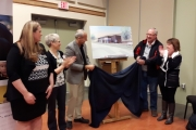 Castelgar Mayor Lawrence Chernoff and SPCA CAO Craig Daniell were two of many dignitaries on hand to see the reveal of plans for the new West Kootenay Community Animal Centre.