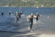 Choppy waters welcomed competitors to the 34th annual Annual Nelson Cyswog 'N' Fun triathlon in Nelson. — Brendan Quinn photo, The Nelson Daily