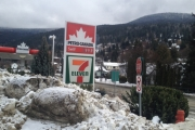 The price of a litre of gas dipped below a dollar at the 7-11 Petro Canada station in Nelson. — The Nelson Daily photo