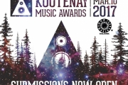 The Kootenay Music Awards submissions are now open, until Sunday February 12, 2017.