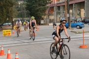 There will be plenty of action centered at Lakeside Rotary Park in Nelson as competitors take to the lake, streets and roads for the Nelson Cyswog'n'Fun Triathlon. — The Nelson Daily file photo