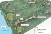 The report commissioned by the RDCK shows an orthophoto of the Johnsons Landing landslide.