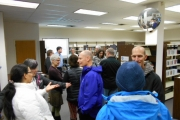 A crowd at Rossland Public Library to learn more about our broadband