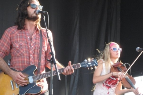 Dustin Bentall and Kendel Carson share the stage; Photo, submitted