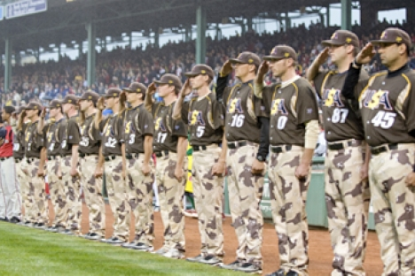 U.S. Military All-stars at Fenway Park; Photo, courtesy of the USMA website