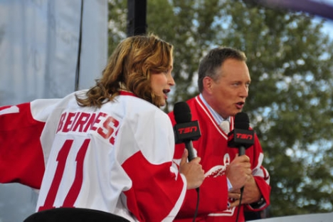Kate Beirness and Darren Dutchyshen will be in Creston this summer hosting Sportscentre. 