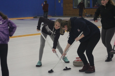 There were 11 teams competing at the weekend Junior Curling Bonspiel in Nelson. — Submitted photo